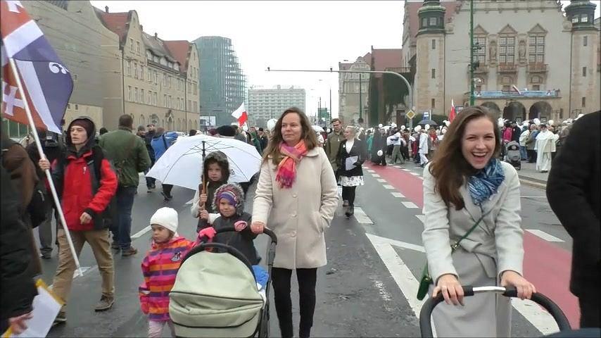 Biały marsz przeszedł przez Poznań!