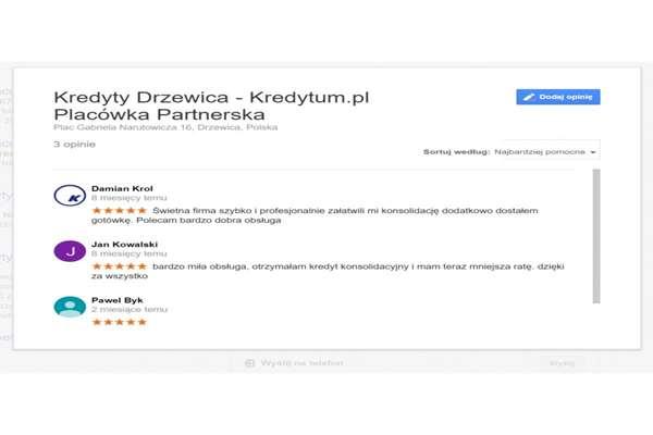 Komentarze Google mapa wizytówka firm  Świętochłowice